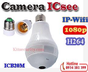Camera ip wifi 960P 1080P 3MP bóng đèn ICSEE ICB20M