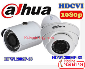Camera Dahua 1080P HAC-HFW1200SP-S3 và HAC-HDW1200MP-S3