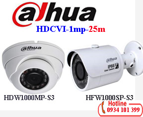 Camera dahua 1mp HAC-HDW1000MP-S3 / HAC-HFW1000SP-S3