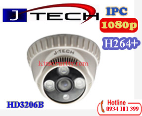 Camera Dome IP 2MP J-Tech HD3206B