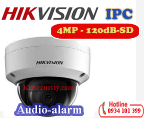 Camera dome IP Hikvision DS-2CD2143G0-I,4MP,Alarm