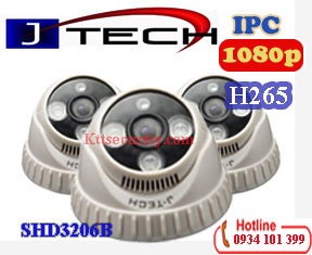 Camera H265 Dome IP 2MP J-Tech SHD3206B