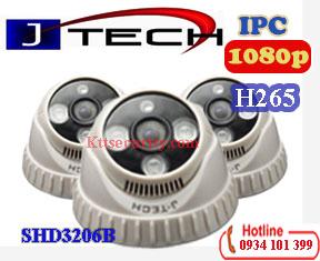 Camera H265 Dome IP 2MP J-Tech SHD3206B