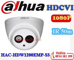 Camera HDCVI 1080P Dahua HAC-HDW1200EMP-S3