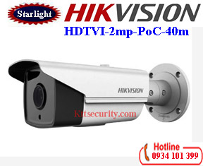 Camera HDTVI Starlight 2mp Hikvision DS-2CE16D8T-IT3E