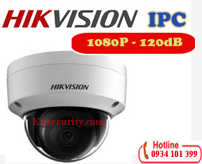 Camera ip 1080P Hikvision DS-2CD2123G0-I,120dB,SD