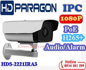 Camera IP hdparagon HDS-2221IRA3 (2MP,H.265+,Âm thanh or Báođộng)