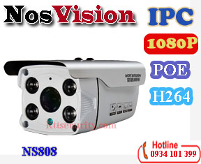 Camera IP POE 1080P NosVision NS808