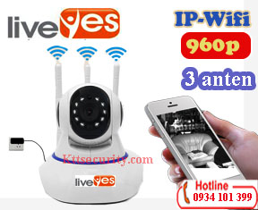 Camera Ip wifi 1.3M LiveYes 3 Anten