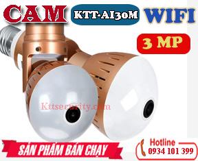 Camera ip wifi bóng đèn KTT-AI