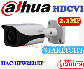 Camera starlight 1080P Dahua HAC-HFW2231EP