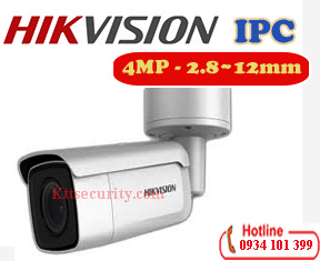 Camera thân IP 4MP Hikvision DS-2CD2643G0-IZS