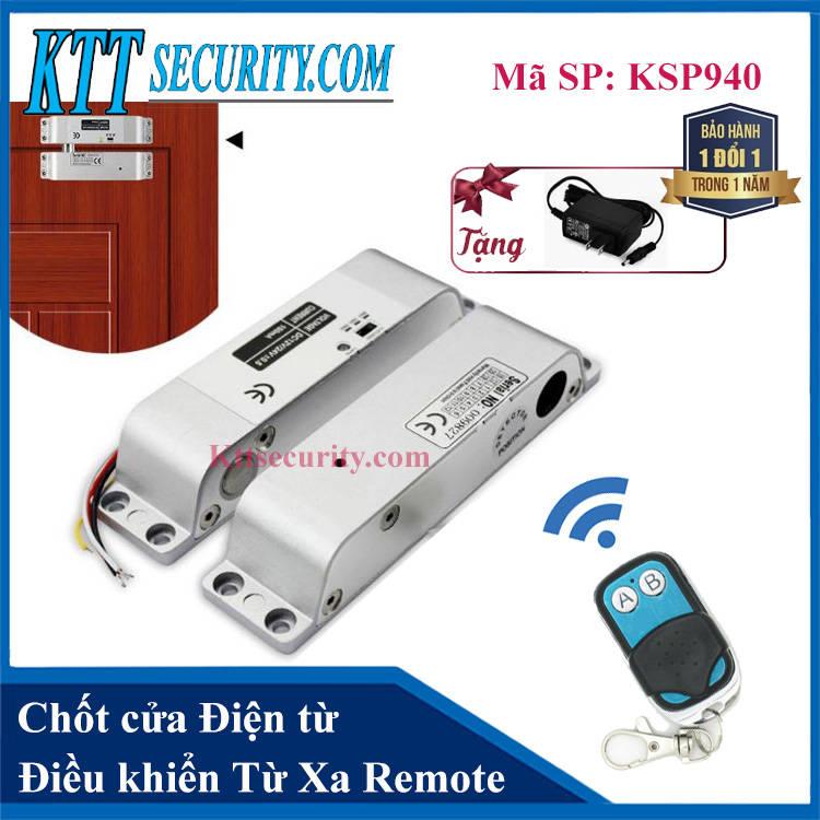 Chốt cửa điều khiển từ xa bằng Remote | KSP940