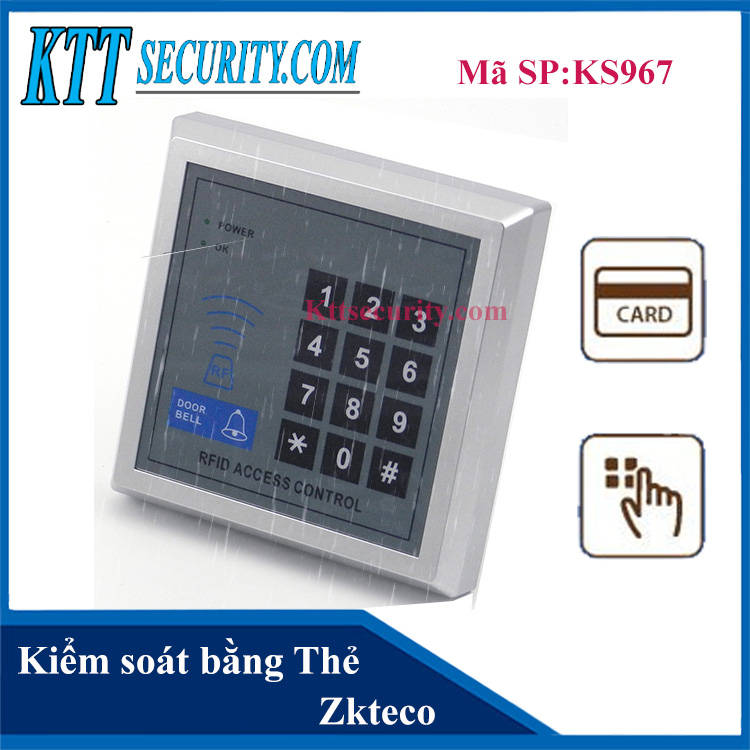 Đầu đọc thẻ,mật khẩu Zkteco | KS967