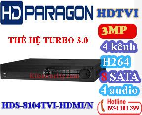 Đầu ghi 4 kênh hdparagon HDS-8104TVIHDMI/N, 8 SATA