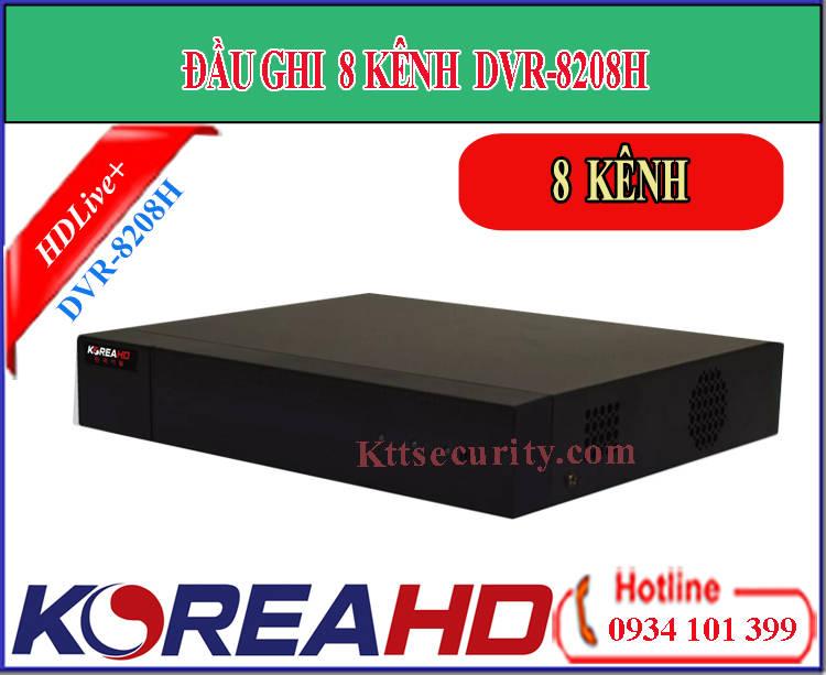 Đầu ghi hình 8 kênh Koreahd DVR-8208H | KR-DVR-8208P (HDTVI)