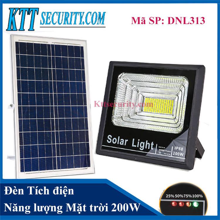 Đèn tích điện năng lượng mặt trời 200W | DNL313