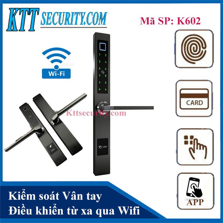 Khóa cửa điện tử giá rẻ | K602-WIFI