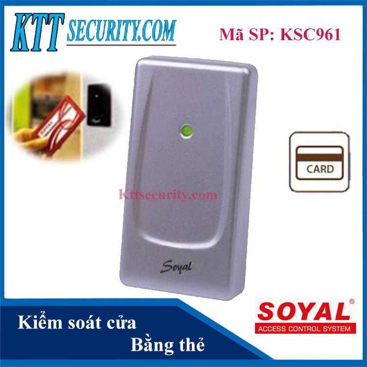 Kiểm soát cửa ra vào bằng thẻ Soyal | KS961