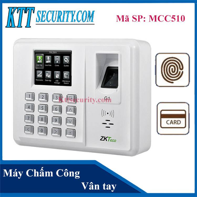 Máy chấm công Vân tay, Thẻ Zkteco | MCC510