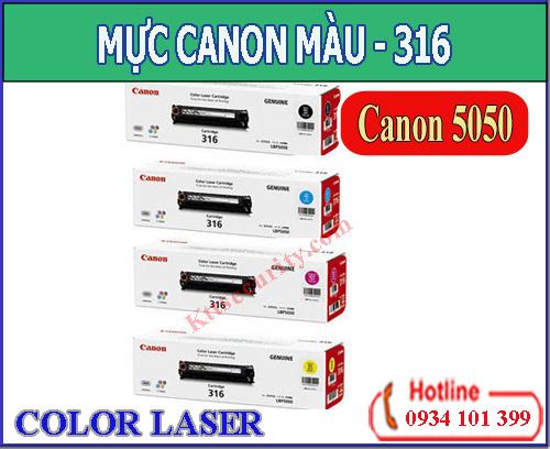 Mực in laser màu Canon 316(Đen,Xanh Vàng,Đỏ) dùng cho máy LBP 5050