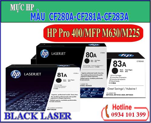 Mực laser HP 80A-81A-83A[CF280A-CF281A-CF283A]