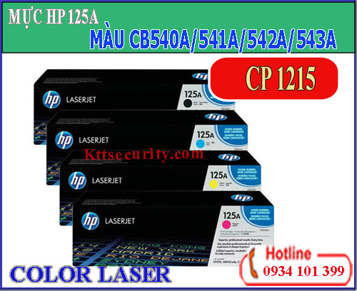 Mực laser màu 125A[CB540A-CB541A-CB542A-CB543A]dùng cho máy CP1215