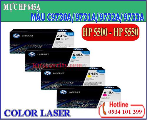 Mực laser màu 645A[C9730A-C9731A-C9732A-C9733A]dùng cho máy HP 5500-HP 5550