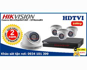 Trọn bộ Camera Hikvision DS-2CE56D0T-IRP+Dahua-XVR5104HS